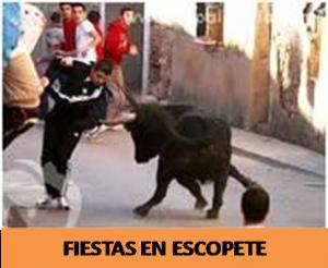 2-3 de agosto. Fiestas en Escopete; día 2 suelta de novillos.